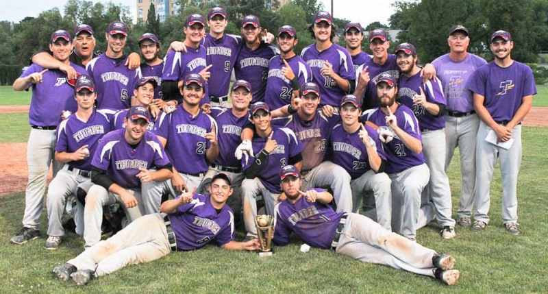 The Tecumseh Thunder won the junior title at Oshawa's Kinsmen Stadium.