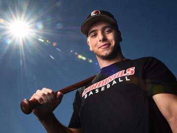 Paul Neophytou, an Ontario Blue Jays grad, is off to Concordia University in Ann Arbour after an injury sidelined him, Photo: Nick Iwanyshyn, Aurora Banner.