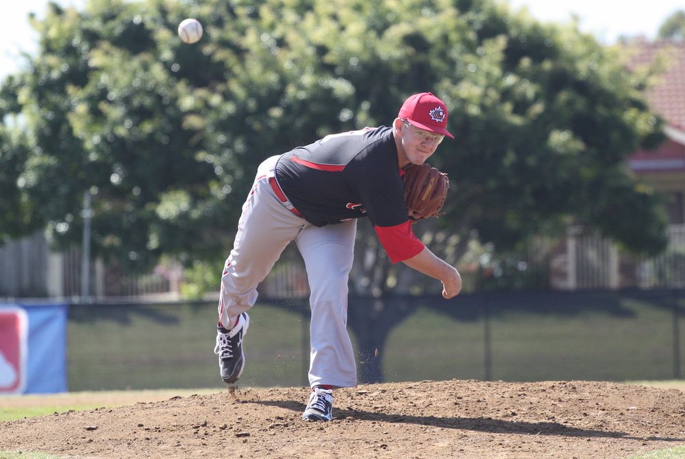 RHP  Josh Burgmann (Nanaimo, BC) was on the mound as Canada opened its eight-game exhibition series against Australia leading into the World Cup in Osaka, Japan.