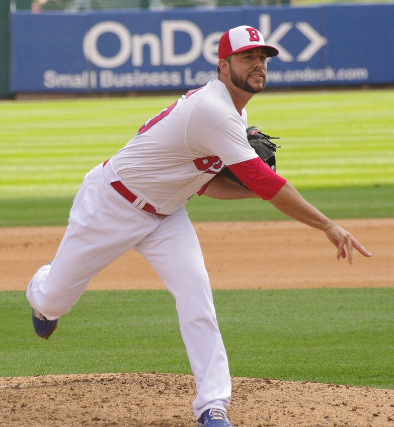 Ryan Tepera pitched three innings of relief for the triple-A Buffalo Bisons in a win over Syracuse. Photo: Jay Blue.