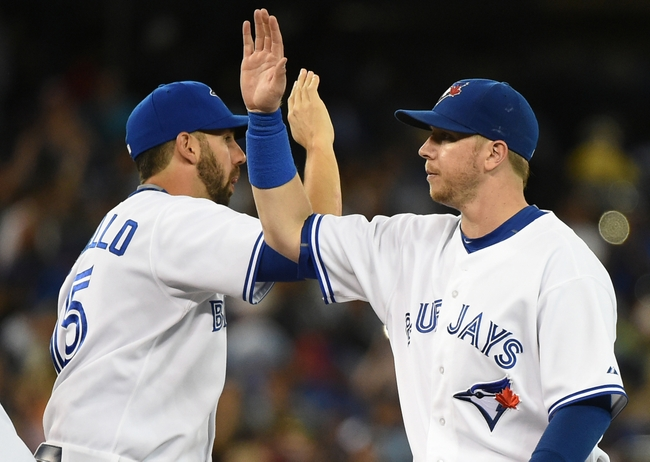 The Jays have a problem(ish) at first base... they have too many weapons. Section 108 wants to know, who's the best option? (photo: Dan Hamilton/USA TODAY Sports)