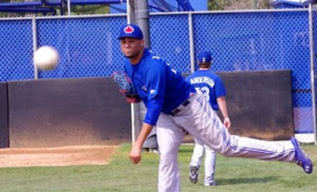 RP Luis Perez pitched five hitless innings for double-A New Hampshire. Photo: Jay Blue.