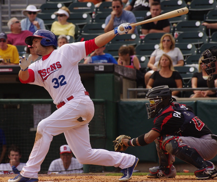 Chris Heisey hit his second home run and walked twice for the triple-A Buffalo Bisons. Photo: Jay Blue.