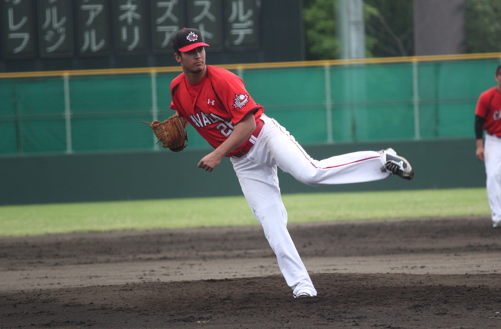 LHP Vincent Beauregard (Laval, Que.) helped Canada gain some revenge for their WBC loss to Italy with seven scoreless innings in a 10-0 win over Italy at the 18U World Cup.
