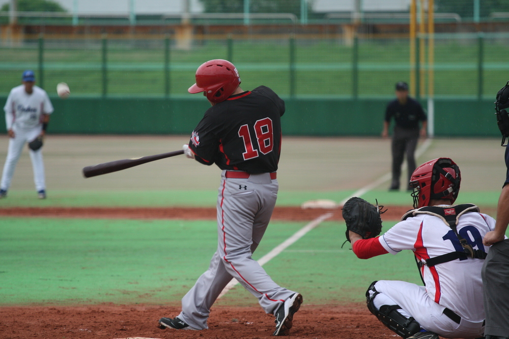 Cooper Davis (Mississauga, Ont.) homered for Canada's lone run in an 11-1 loss to Cuba at the 18U World Cup.
