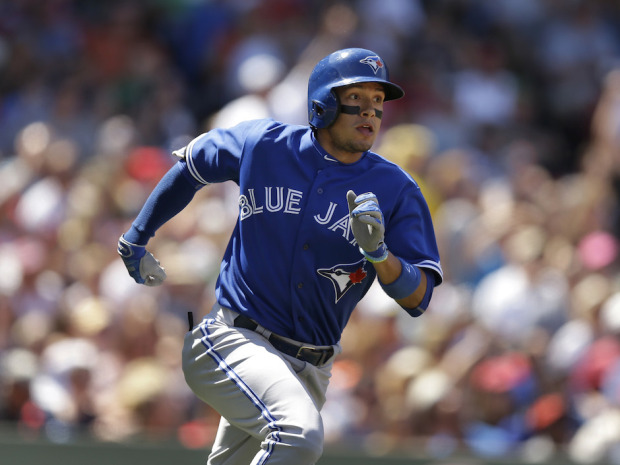 On Monday night, a strange thing happened ... the Toronto Blue Jays lost. Section 108 explains why Ryan Goins isn't the only one who had a hot month of August. (photo: Steven Senne/AP)