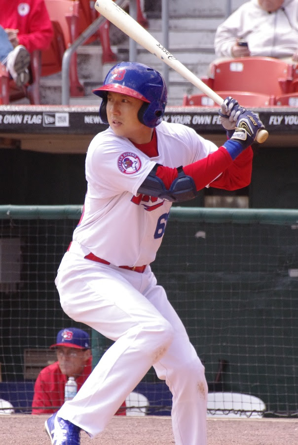 Popular INF Munenori Kawasaki is one of the September call-ups from triple-A Buffalo. Photo: Jay Blue.