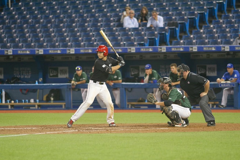 C Andrew Yerzy (Toronto, Ont.) of the Toronto Mets, was in the lineup for Ontario Black ... just as he was in 2013 in the only other meeting between two Ontario teams. Photo: Tyler King.