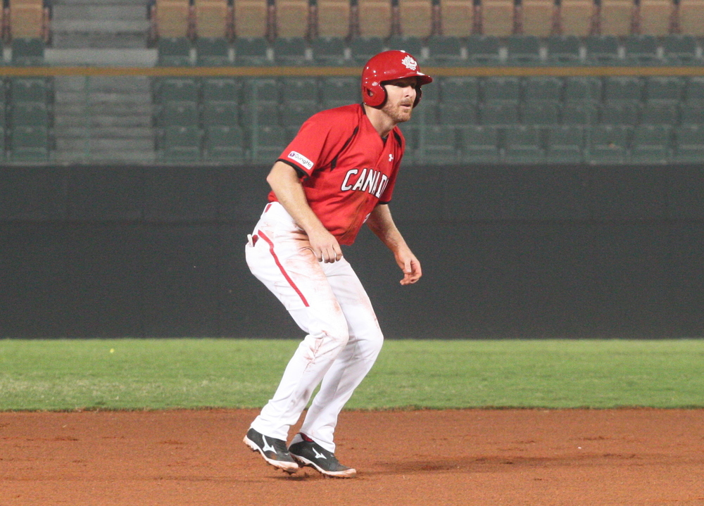 Peter Orr continued his hot hitting in a 5-5 Canada tie with Venezuela leading into the first Premier 12 tourney. Photo: Adam Morissette.