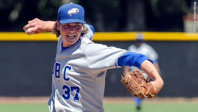 UBC's Curtis Taylor earned First Team honors out of the bullpen.