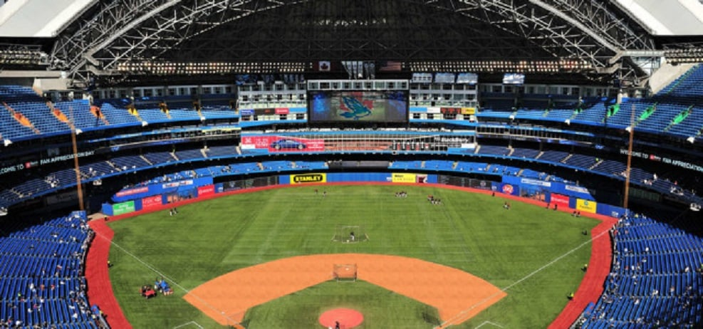 Work will soon begin on the Rogers Centre to build an all-dirt base paths and get rid of the dirt cut outs.
