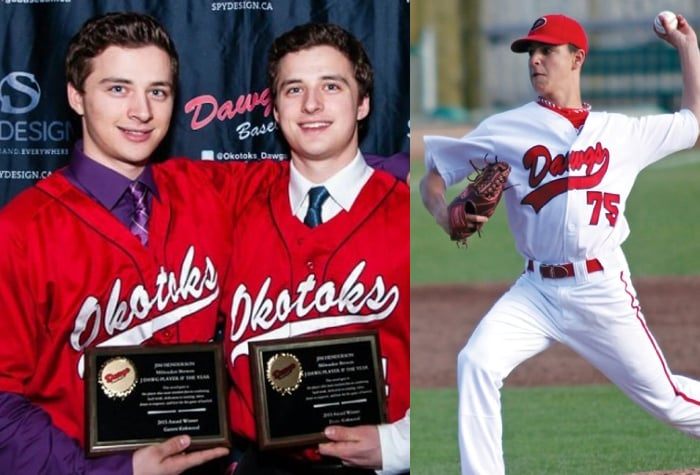 The Kirkwood twins,INF Drake Kirkwood and OF Garrett Kirkwood, along with LHP Nick Vickers will be with the Okotoks Dawgs this summer.
