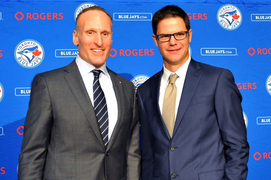 New Jays president Mark Shapiro (left) and general manager Ross Atkins have added a couple of front office executives.