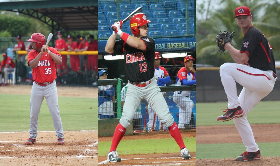 1B Josh Naylor (Mississauga, Ont.), OF Tyler O'Neill (Maple Ridge, BC) and RHP Mike Soroka (Calgary, Alta.) were ranked as top prospects in their respective organizations by Baseball America.