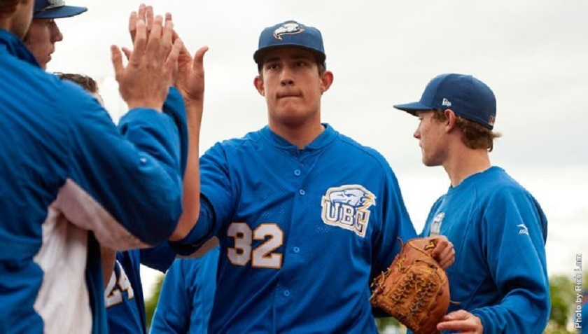 RHP Alex Webb (Surrey, BC), above, and RHP Curtis Taylor (Coquitlam, BC) are two reasons big things are expected from the UBC Thunderbirds.