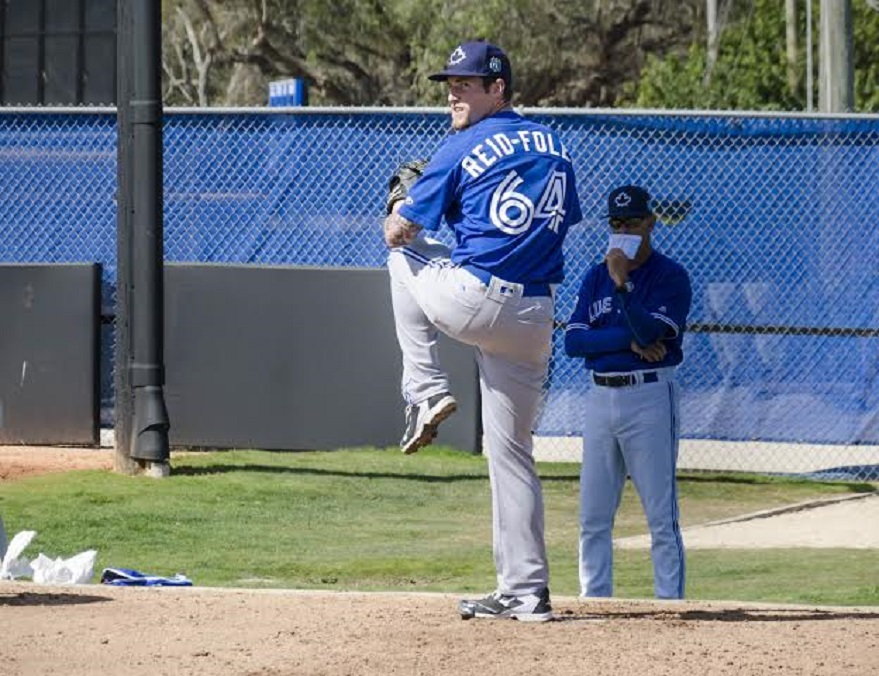 RHP Sean Reid-Foley, a second-round pick of the Toronto Blue Jays in 2014, is simply carrying on a family tradition: pitching pro ball. Photo: Tristan Garnett.