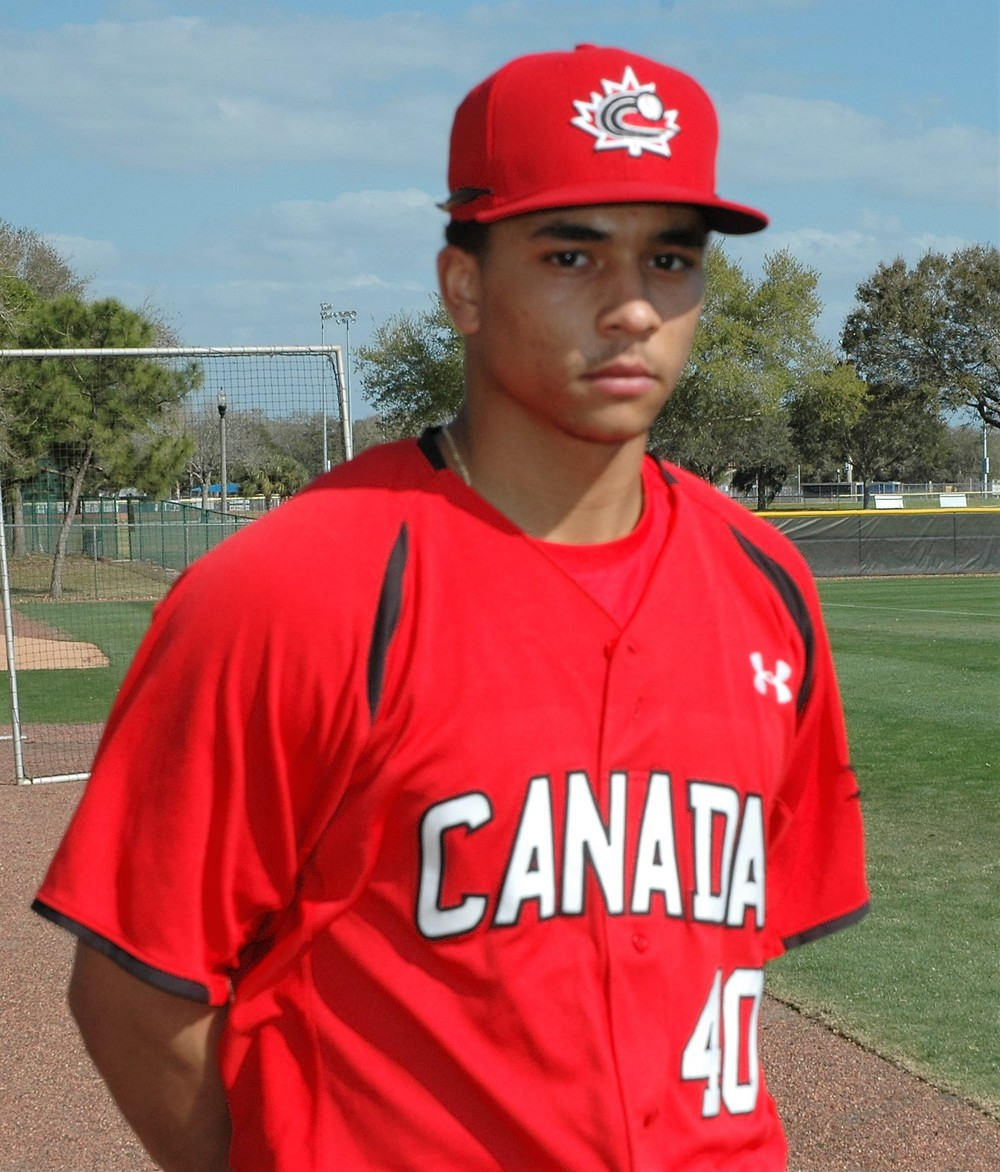 Clayton Keyes at the Canadian Junior National Team's spring training practice in St. Petersburg, Fla. Photo: Andrew Bottomley