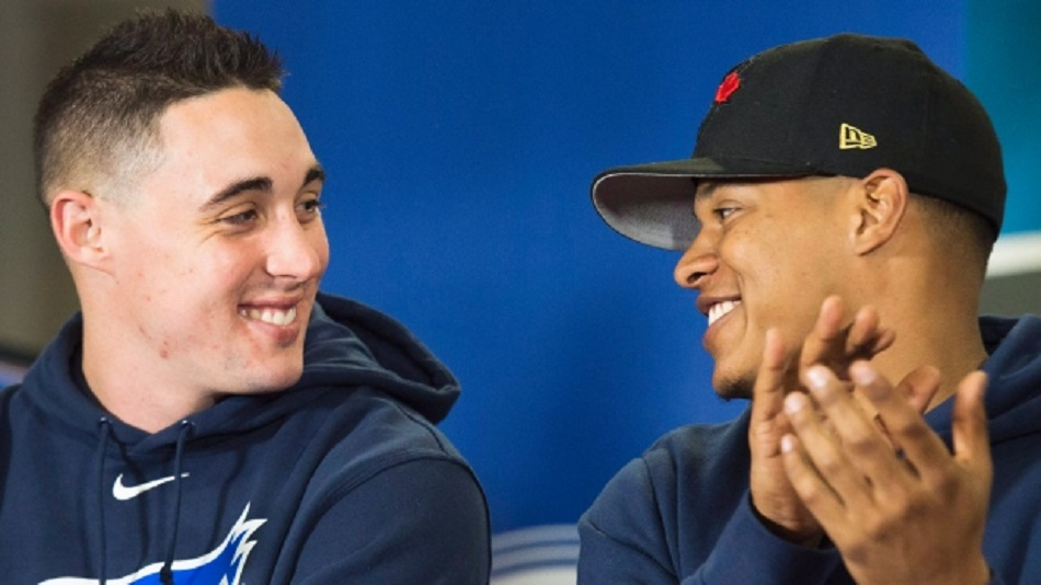 RHP Alex Sanchez and RHP Marcus Stroman are expected to be big-time contributors to the Blue Jays rotation this year.