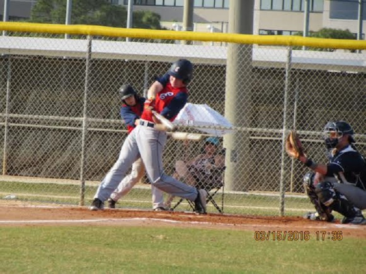 OF Sean Walmsley strokes a line drive for the Etobicoke Rangers 17U on their trip to Fort Pierce, Fla. where they went undefeated in six games.