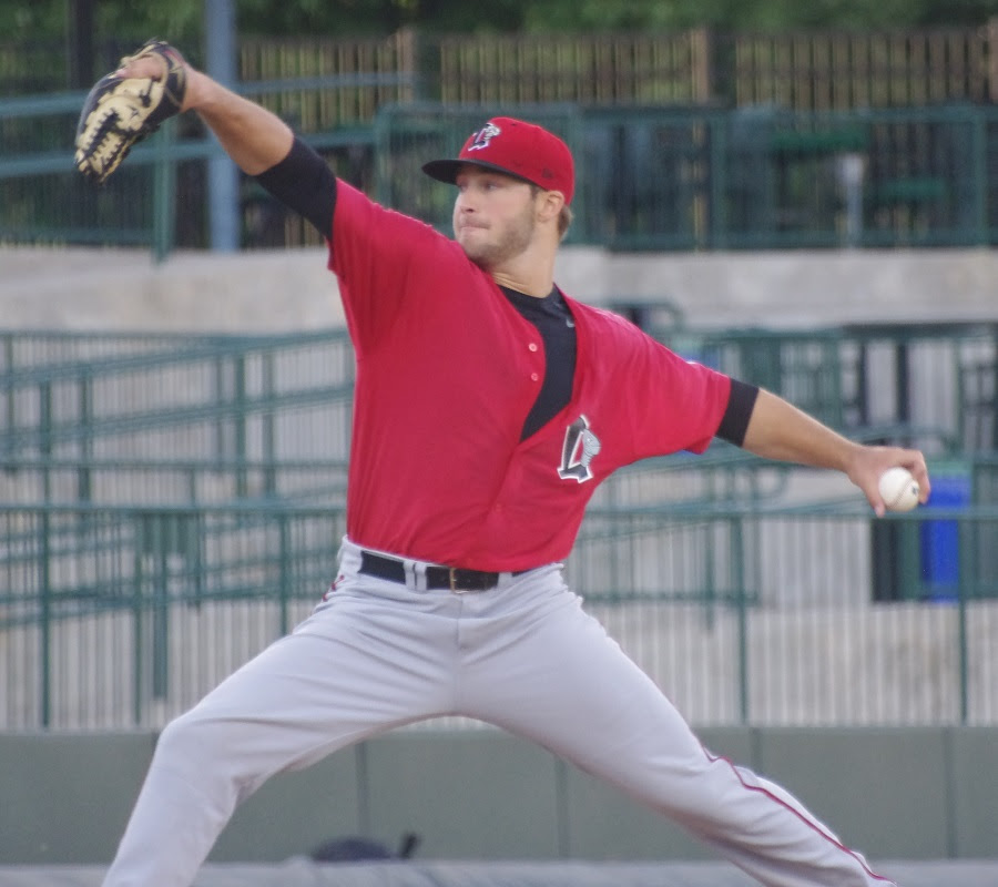 LHP Shane Dawson (Draytonn Valley, Alta.) is bound for double-A New Hampshire. Photo: Jay Blue.