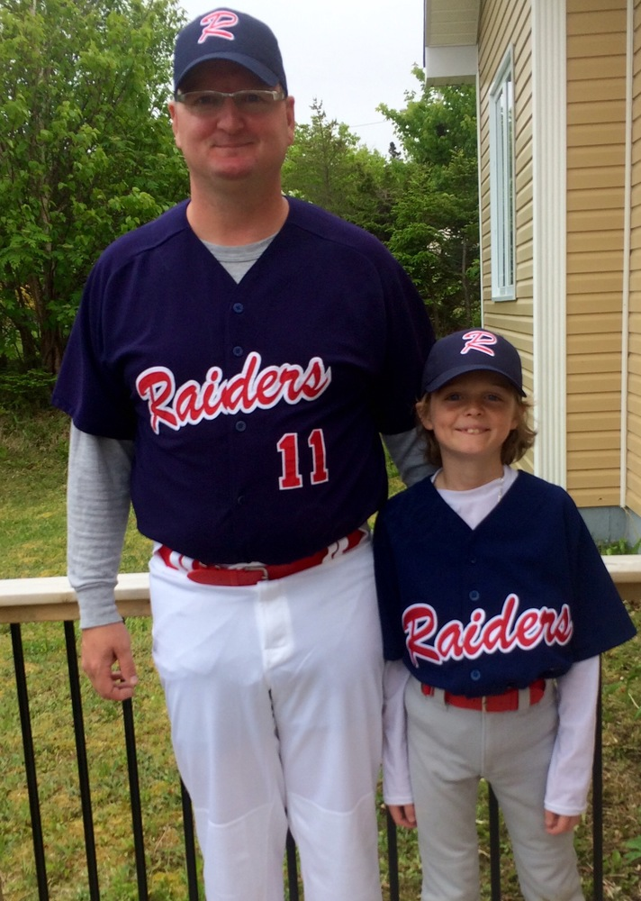 "Todd and Aiden Powell (Conception Bay South, Newfoundland) in a shot entitled ""Go Raiders Go."""