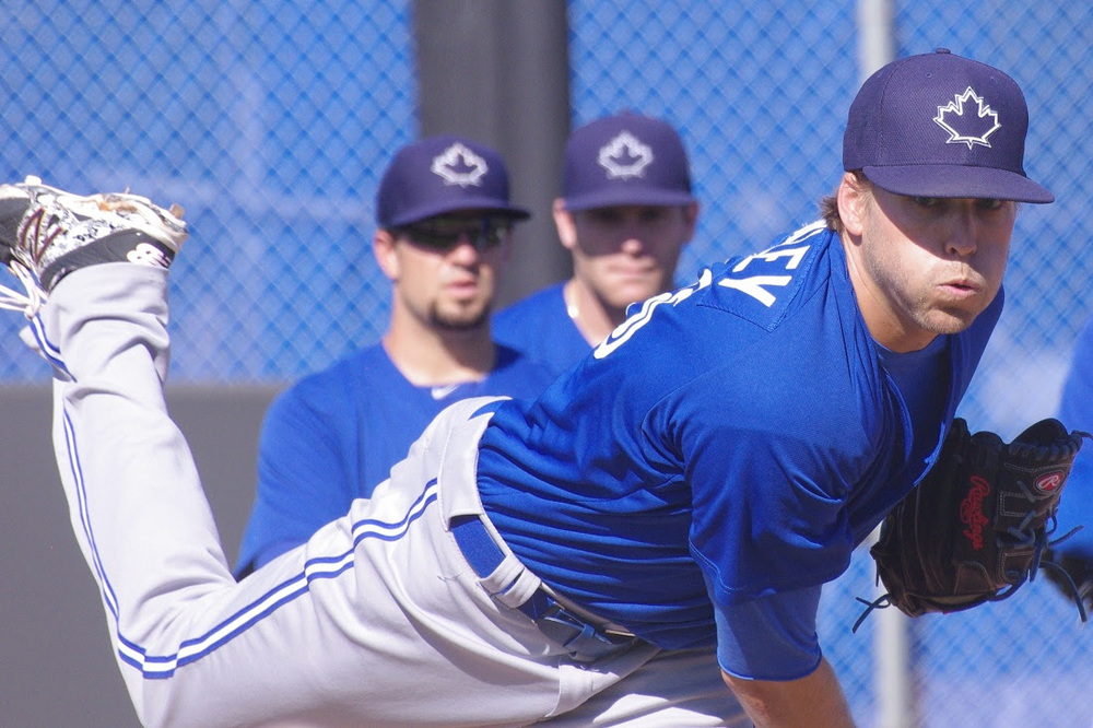 RP Chris Rowley pitched 2 1/3 scoreless innings for the class-A Dunedin Blue Jays. Photo: Jay Blue.