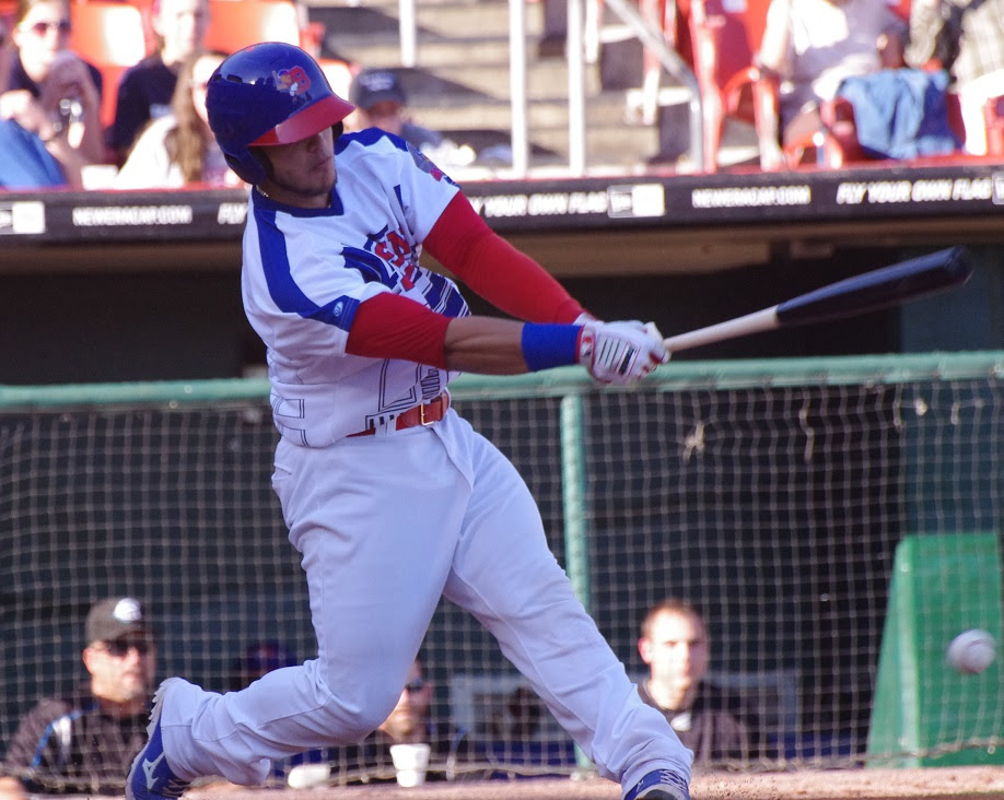 A.J. Jimenez returned to triple-A Buffalo and homered in a 6-5 win over the Scranton/Wilkes-Barre RailRiders. Photo: Jay Blue.