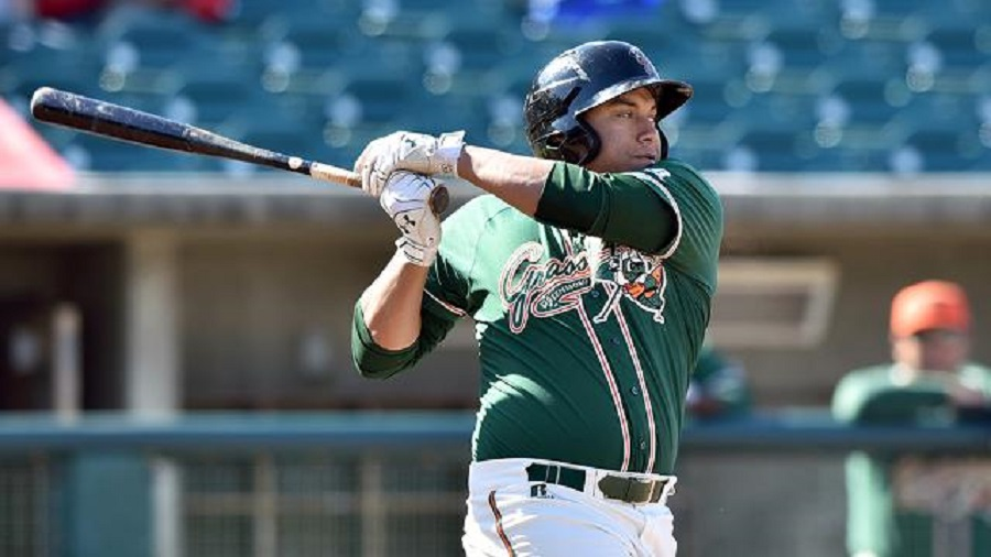 Josh Naylor (Mississauga, Ont.) hit .435 (10-for-23) this week for the class-A Greensboro Grasshoppers with three homers and eight RBIs.