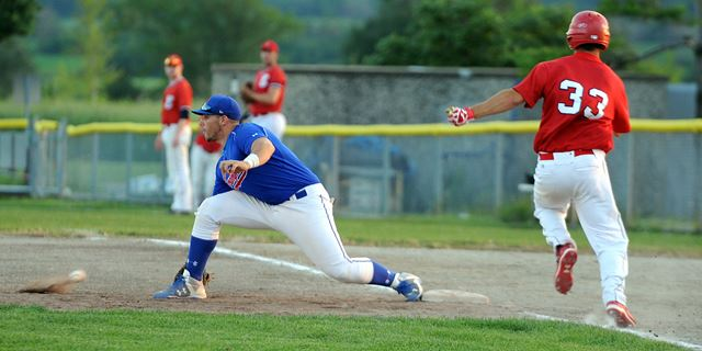 Victor Speciale hit .360 for the Brampton Royals with 54 hits, 10 doubles, a triple, three homers and 43 RBIs. BA, .