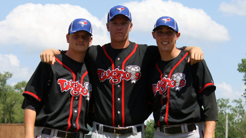 The Lansing trip from left to right: Justin Nicolino, RHP Noah Syndergaard and RHP Aaron Sanchez.