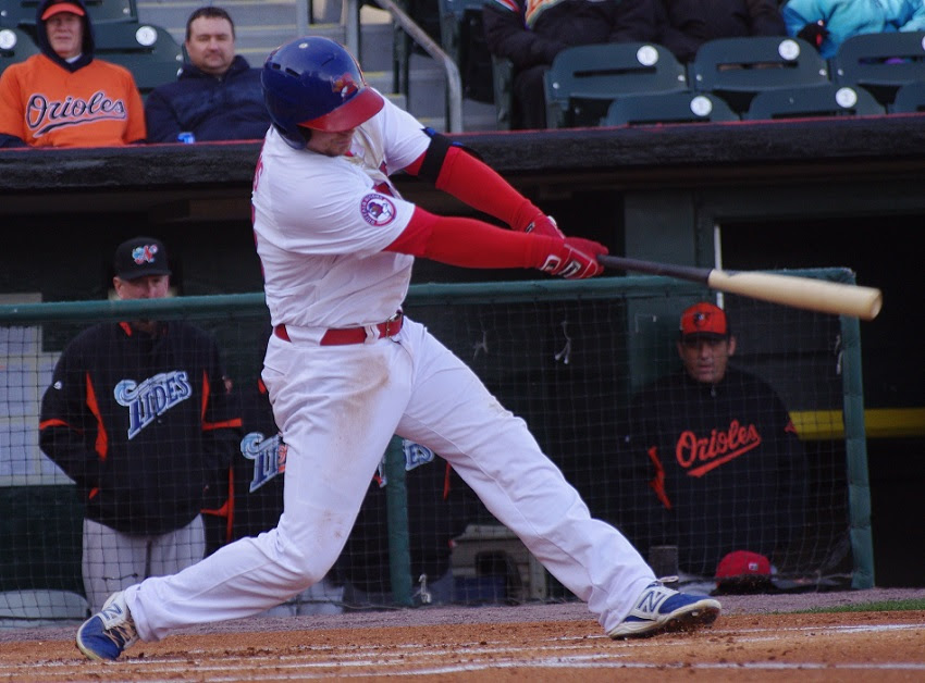 Andy Burns hit his second homer as triple-A Bufflo loss to Scranton/Wilkes-Barre. Photo: Jay Blue.