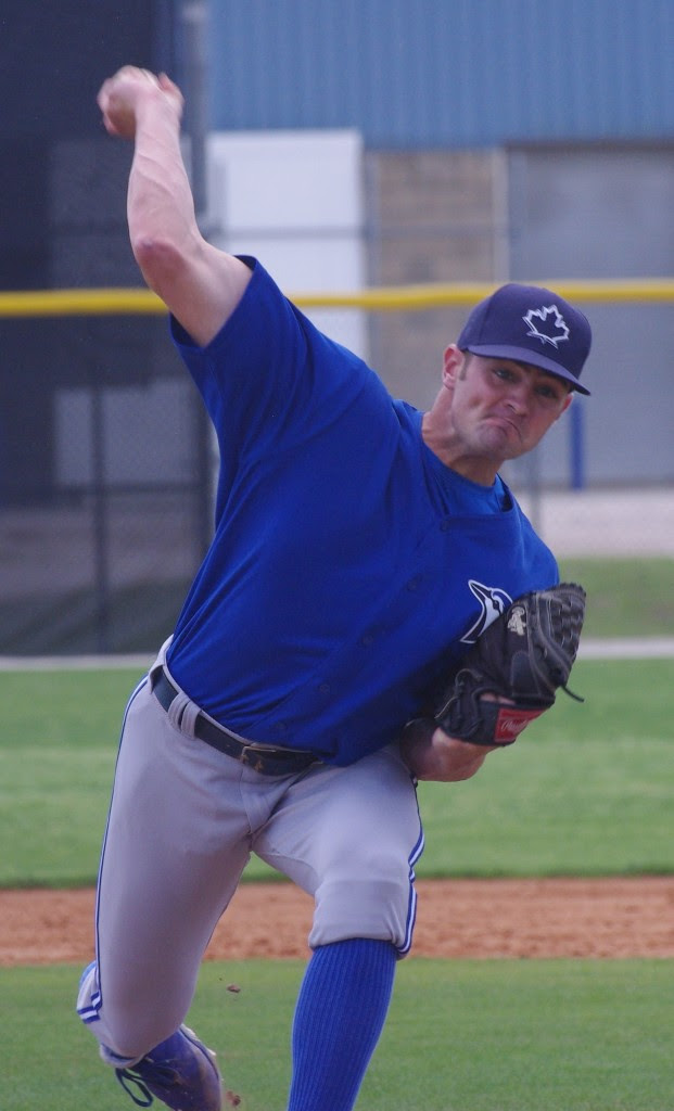 RHP Brad Allen worked 5 2/3 scoreless allowing one hit as class-A Dunedin scored a win. Photo: Jay Blue.