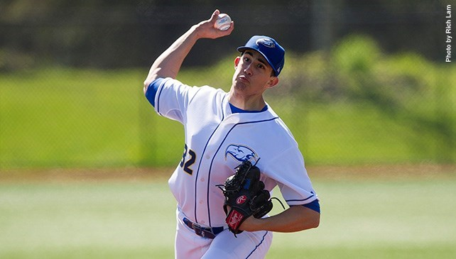 RHP Alex Webb (Surrey, BC) of the Biritish Columbia Thunderbirds earned NAIA West Pitcher of the Year honors.
