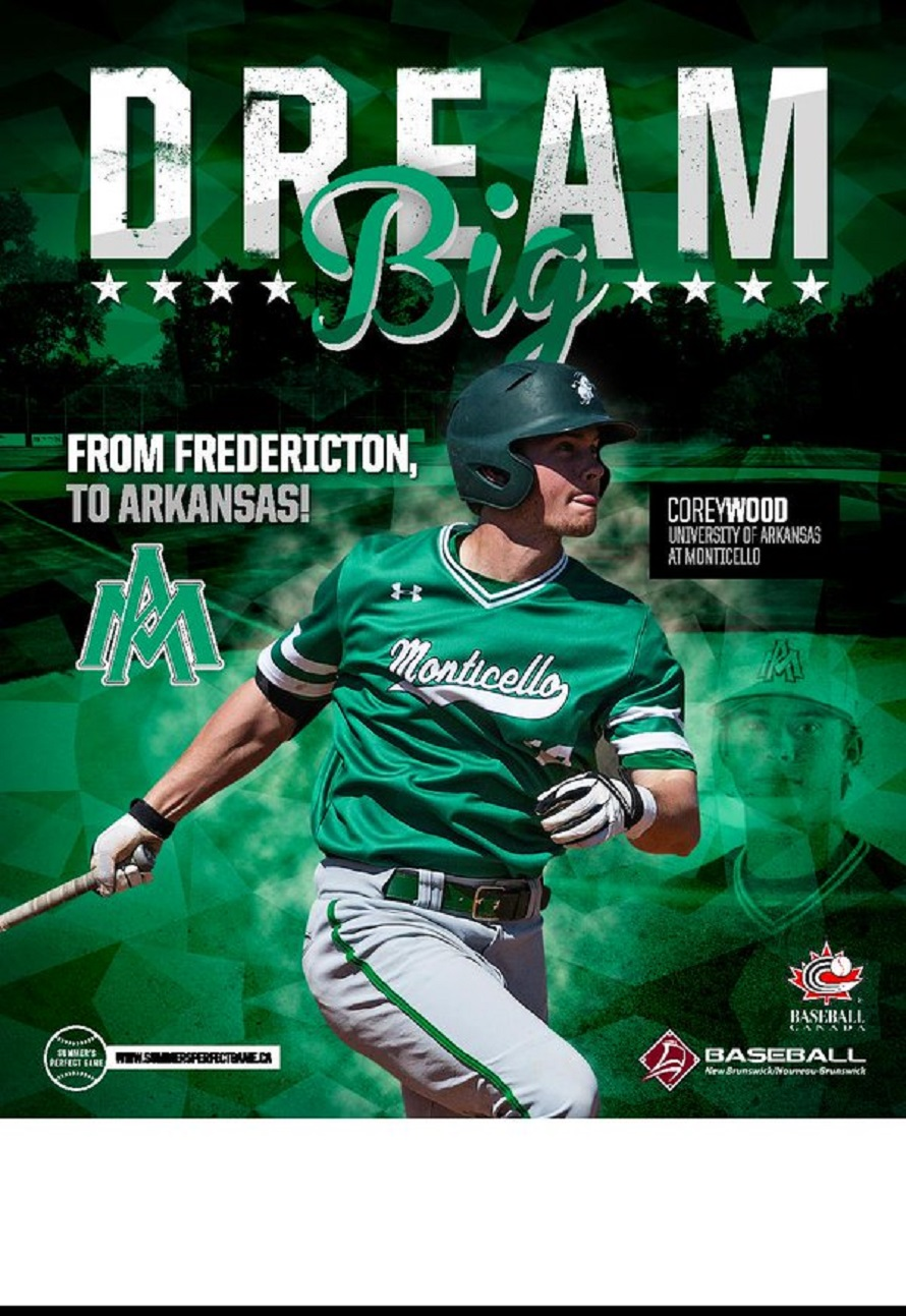 OF Corey Wood (Fredricton, NB) earned 2016 Great American Conference Player of the Year honors for the University of Arkansas at Monticello Boll Weevils. He ended the week hitting .364 with 21 home runs and 69 RBIs.