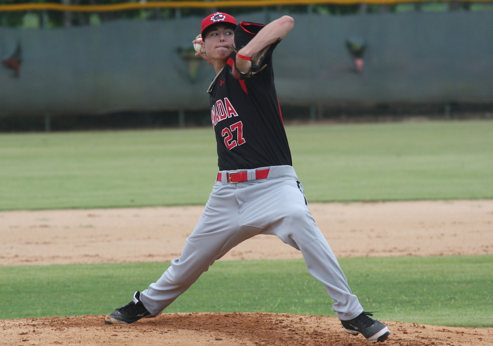 Jordan Balazovic (Mississauga, Ont.) did not allow an earned run or walk a batter facing the Dominican Summer League Twins scattering three hits and striking out four He retired 12 in a row at one point.