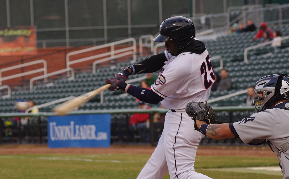 Dwight Smith enjoyed a 3-for-4 day with a pair of homers knocking in three runs in a win at double-A New Hampshire. Photo: Jay Blue.