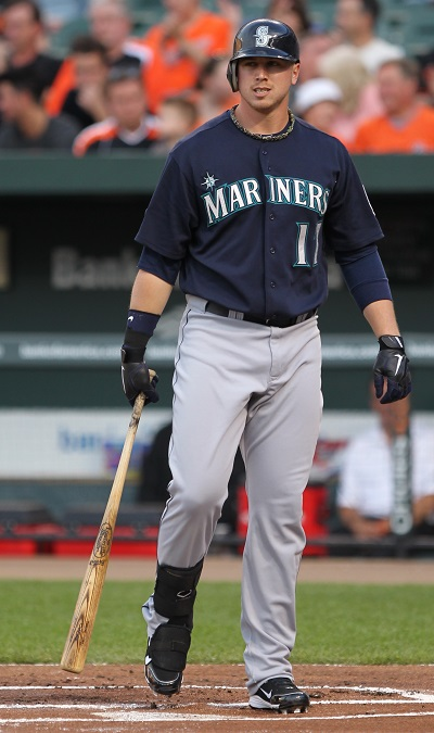 Seattle Mariners first baseman Justin Smoak (17)