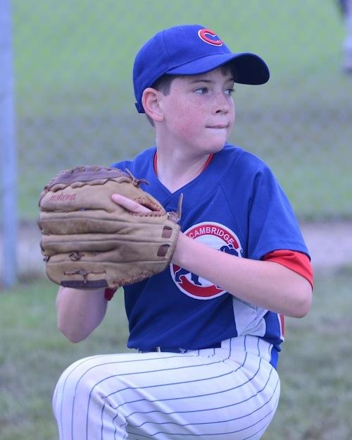 Noah Roberts pitching