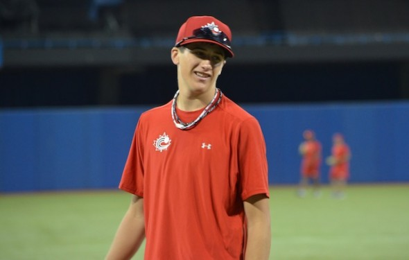 RHP Cal Quantrill (Port Hope, Ont.) was the third highest Canadian ever selected. Photo: Alexis Brudnicki.