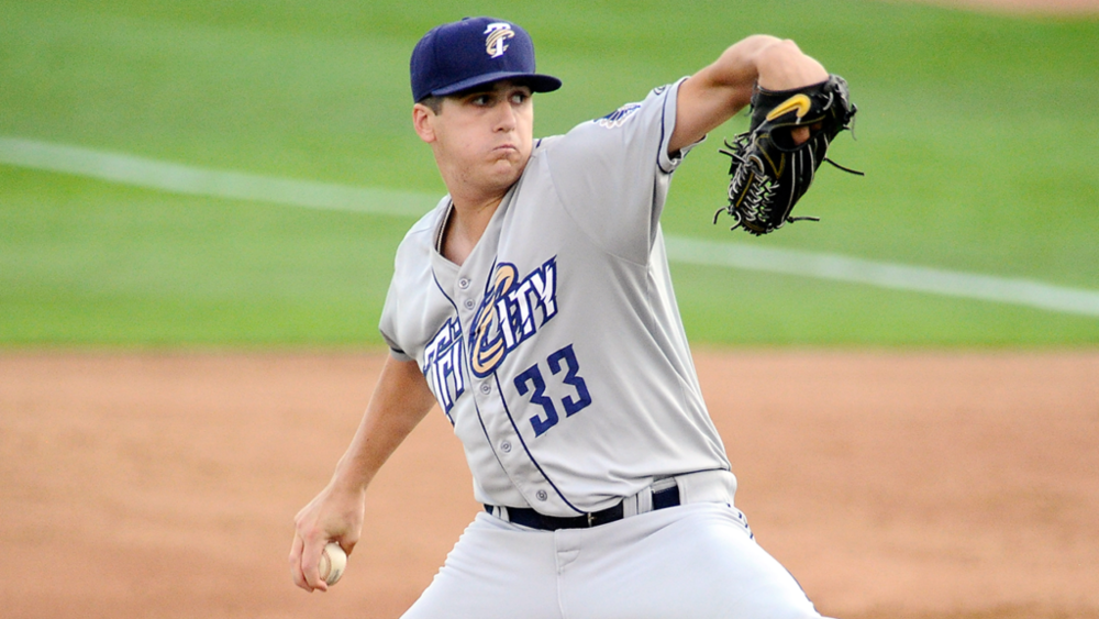 RHP Cal Quantrill (Port Hope, Ont.) went eighth over all in North America to the San Diego Padres.The former Ontario Terrier was 0-5 with a 5.11 ERA in 12 starts with the rookie-claass Arizona League Padres, class-A Tri City and class-A Fort Wayne.