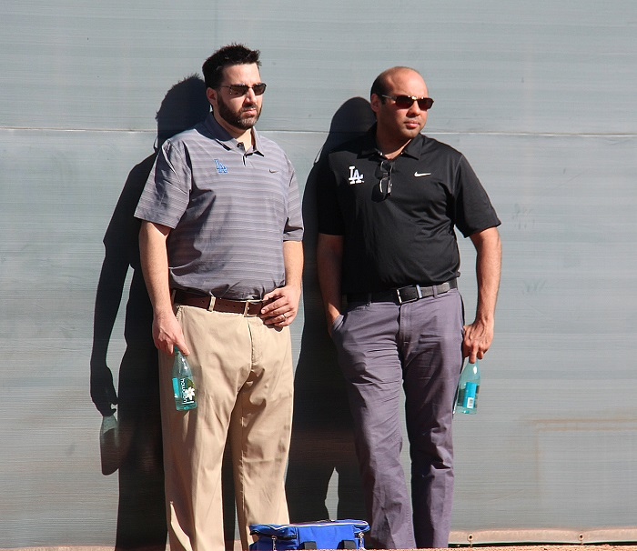 Alex Anthopoulos, left, with Farhan Zaidi.