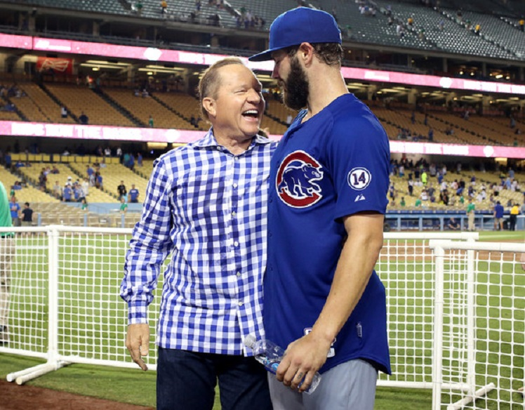 Super agent Scott Boras with Chicago Cubs RHP Jake Arrieta.