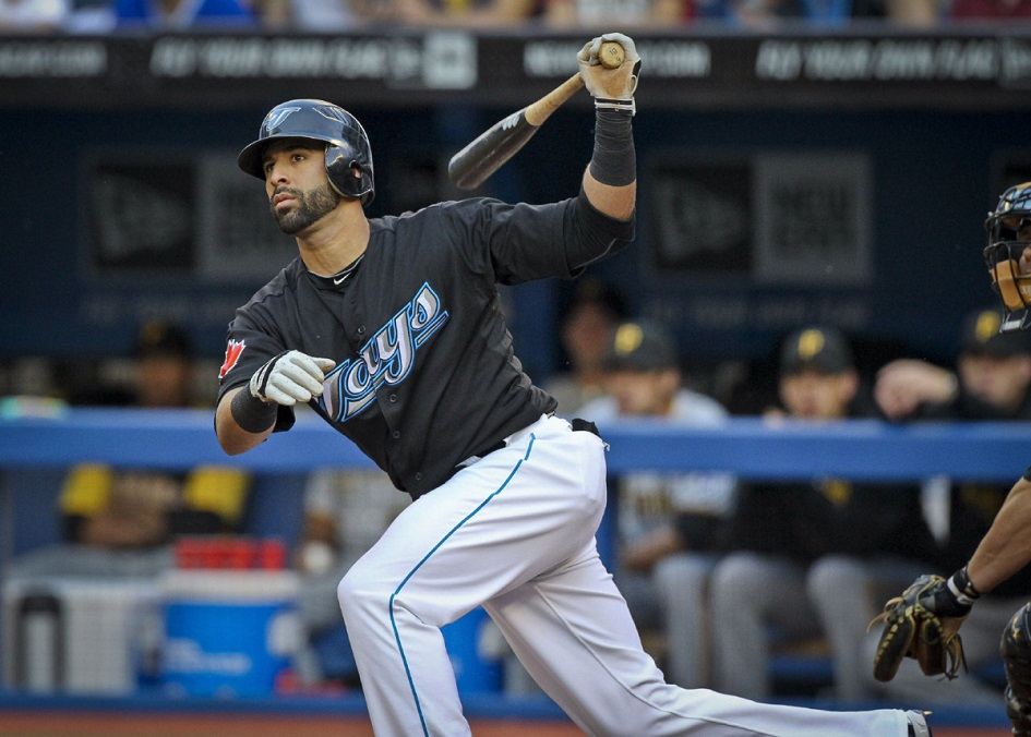 RF Jose Bautista on his way to his second-consecutive home run title in 2011