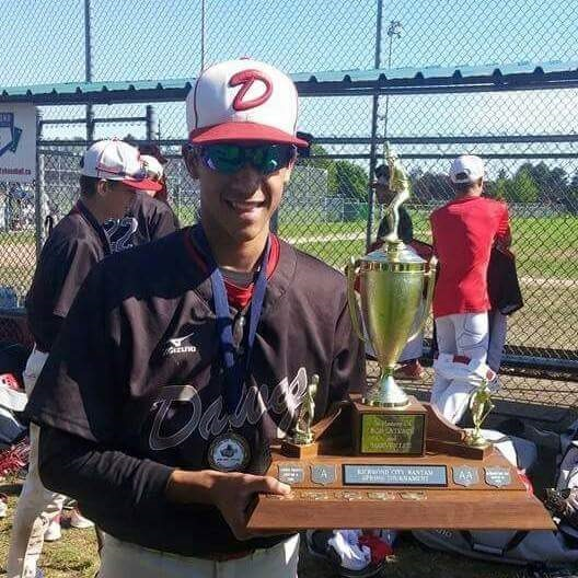 2B Cesar Valero (Calgary, Alta.) of the Okotoks Dawgs ...