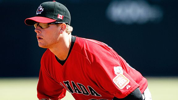 Justin Morneau (New Westminster, BC) is 4-for-4 in WBCs.