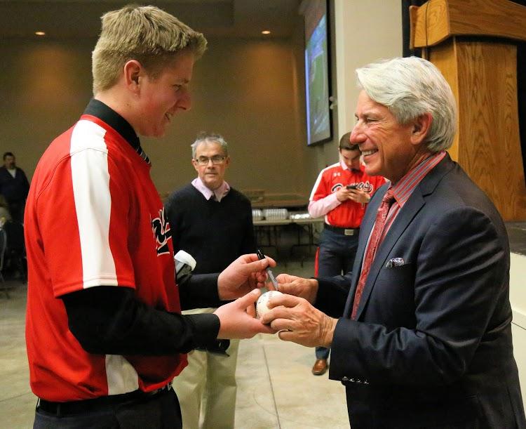 Graham Brunner gets an autograph