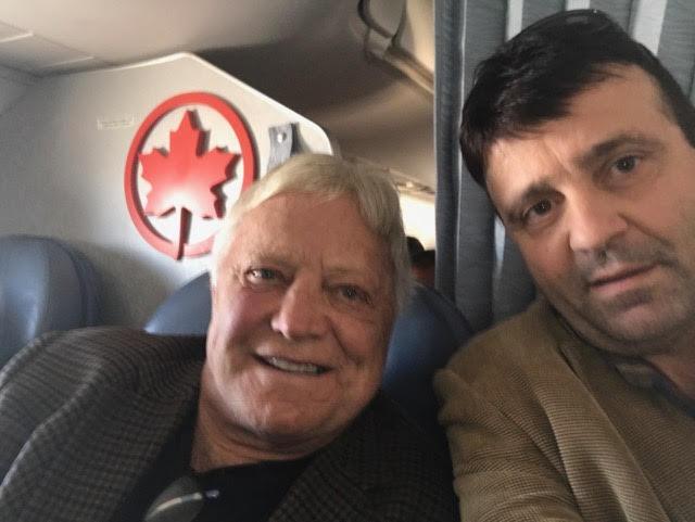 Chicago Blackhawks Hall of Famer Bobby Hull and Chicago baseball coach Pete Caliendo.