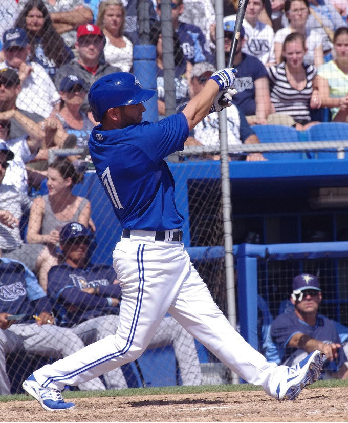 Joshua Palacios, Mike Ohlman, Matt Dean and Jonathan Diaz, above, all homered late as the Toronto Blue Jays beat the Pittsburgh Pirates 12-0. Photo: Jay Blue.
