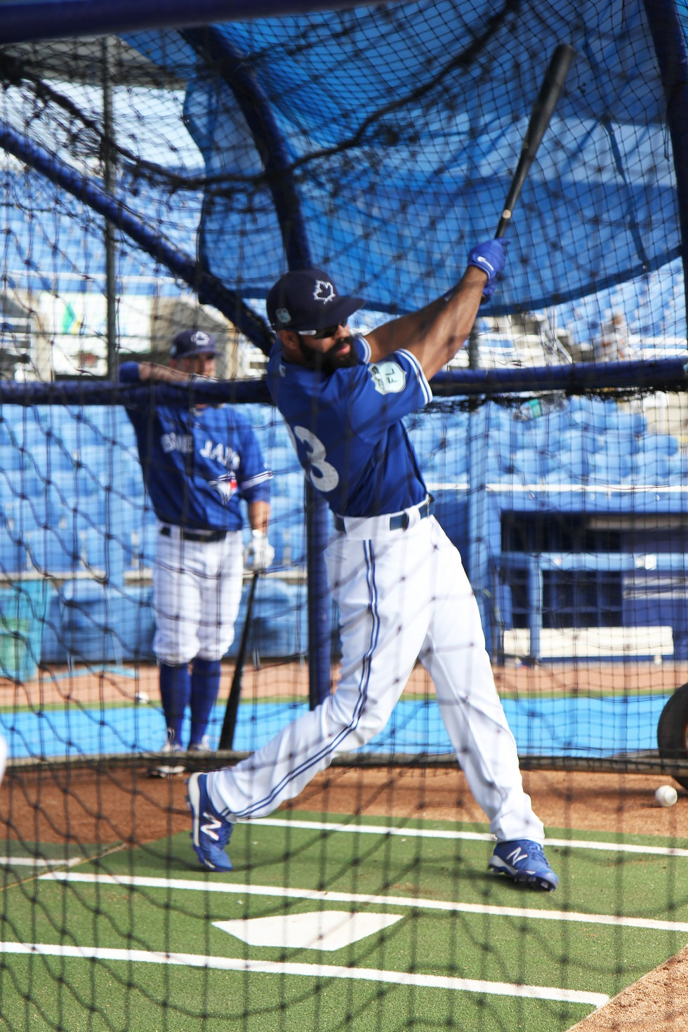 Blue Jays outfielder Dalton Pompey (Mississauga, Ont.), seen here taking batting practice in Dunedin, uses his platform as an athlete to help others. Photos: Matt Antonacci.