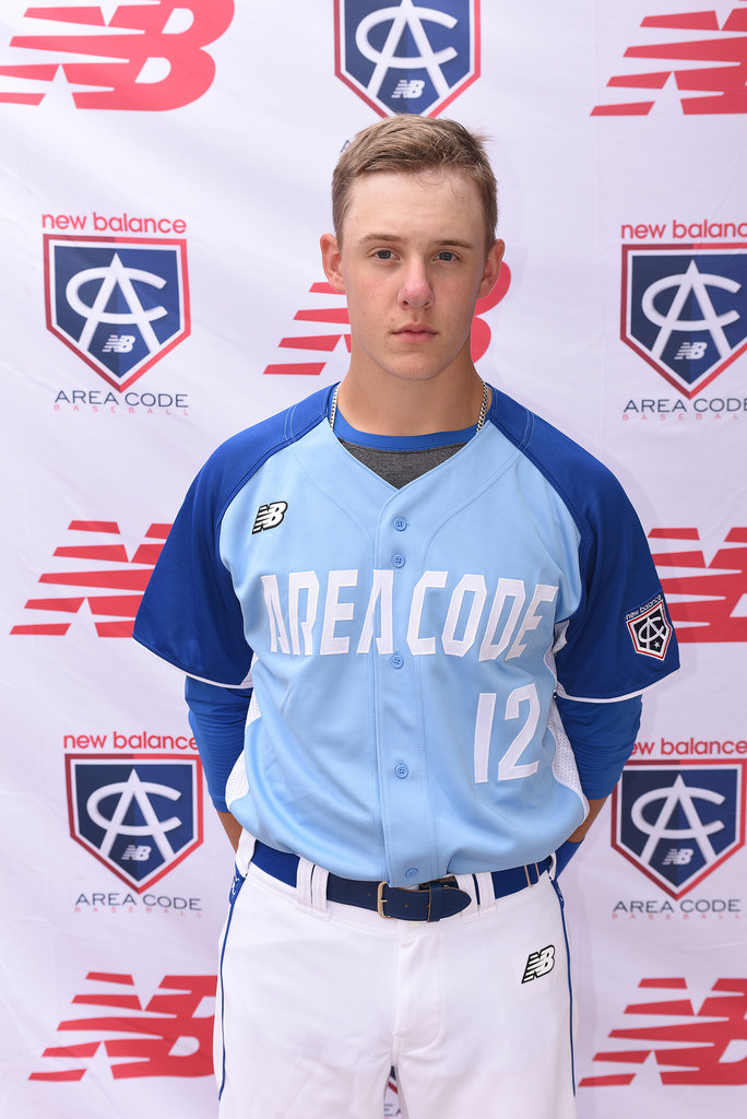 1B Michael Stovman (Maple Ridge, BC) of the Langley Blaze.